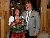 Ein besonderer Dank gilt auch Brigitte Schref - die Frau unseres Schützenmeisters. Sie hat viele Entbehrungen zu ertragen, wenn unser Vorstand wieder unterwegs ist.
