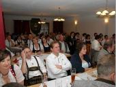 Aufmerksam wurden die Ehrungen und Danksagungen von den Anwesenden verfolgt. Ca. zwei Stunden dauerte das offizielle Programm bevor die Versammlung zum gemütlichen Teil des Abends überging.