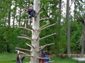 Groß  und Klein hatte seinen Spaß am Spielplatz der Gaststätte Geländer bei Eichstätt.