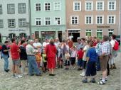 Der Beginn einer erfrischend - lebhaften Führung durch Landsberg am Lech.