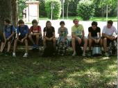 Die Jugend war schnell startbereit. Mit festem Schuhwerk und Rucksäcken ging es kurz darauf los zum Lainbach-Wassserfall.