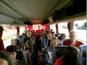 Auf dem Weg nach München war schon ausgezeichnete Stimmung im vollbesetzten Bus. Insbesondere unsere Vereinsjugend war beim Ausflug sehr stark vertreten.