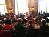 Nach dem Besuch der Brauerei wurde im Gasthaus der Hofbrauerei noch deftig zu Abend gegessen. Gut und reichlich waren die Portionen und stärkten die Ausflügler für den Heimweg.