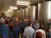 Viele Hektar Äpfel und Birnen sind nötig, um diese Tanks mit Saft zu füllen. Daraus wird dann Most oder Cidre hergestellt, wobei ein großer Teil gleich als Saft abgefüllt und verkauft wird. http://www.obergut.at/