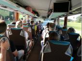 Die Stimmung im Bus auf dem Hinweg war schon sehr gut.