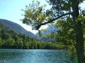 Einige nutzten die Gelegenheit zum Baden. Kilian hat sogar den See durchschwommen.