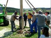 Nach kleineren Korrekturarbeiten konnte der Baum dann auch befestigt werden.