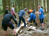 Bei den ganzen Vorbereitungen haben sich unsere Jugend und unsere Junioren sehr engagiert.