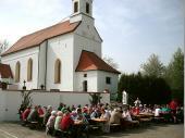 Das schöne Wetter hat für guten Besuch gesorgt.Es ist aber auch schön in Steinbach.