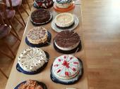 Das Kuchen und Torten-Buffet wird von den Vereinsdamen organisiert. Vielen Dank an die Spender/innen, die sich hier die Arbeit gemacht haben.