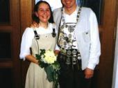 2001 war Otto Rys der Schützenkönig der Grenzlandschützen. Hier mit seiner Schützenliesl Anita.