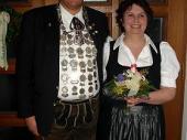 2006 konnte Ludwig Maier den besten Königsschuß abgeben. Hier mit seiner Schützenliesl Anneliese.
