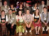 Das Gruppenbild der Könige des Altschützenball von 2009 in Baierbach.