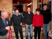 """2012 konnte die Luftpistolen-Mannschaft die """"Rote Laterne"""" endlich an die 1. Mannschaft weiterreichen."""