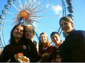 2002 waren Sonja, Andrea, Maria, Berni und Cilli dabei. Nach dem Schießen war eine Runde auf dem Oktoberfest unumgänglich.