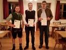 Vereinsmeister der Herren v.l.n.r. Markus Graßl (3. Platz), Schützenmeister Martin Freudenreich (1. Platz) und Ludwig Maier (2. Platz)