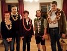 Fünf Schütz/innen haben sich zum Königs-Rittern qualifiziert. v.l.n.r. Christiane Graßl, Schützenmeister Martin Freudenreich, Irene Stangl (2. Platz), Markus Graßl (Schützenkönig) und Ludwig Maier (3. Platz).