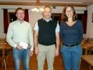 Bei den Neuwahlen wurde eine tragende Position neu bestellt. Der bisherige Kassierer Andreas Oberloher (l.) trat nicht mehr zur Wahl an. Ihm folgt die neue Schatzmeisterin Cilli Bäker.