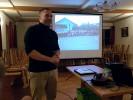 Schützenmeister Martin Freudenreich eröffnete den Abend mit ein paar Worten des Dankes und kündigte die Filme über Steinbach und die Grenzlandschützen an.